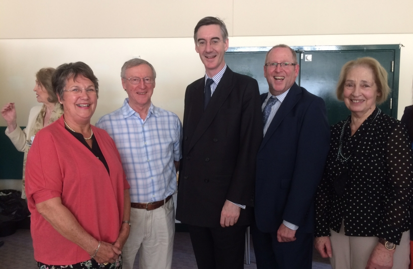 Jacob Rees Mogg with guests